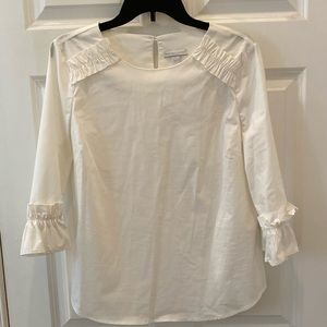 New York and Company Ruffled Blouse Shirt